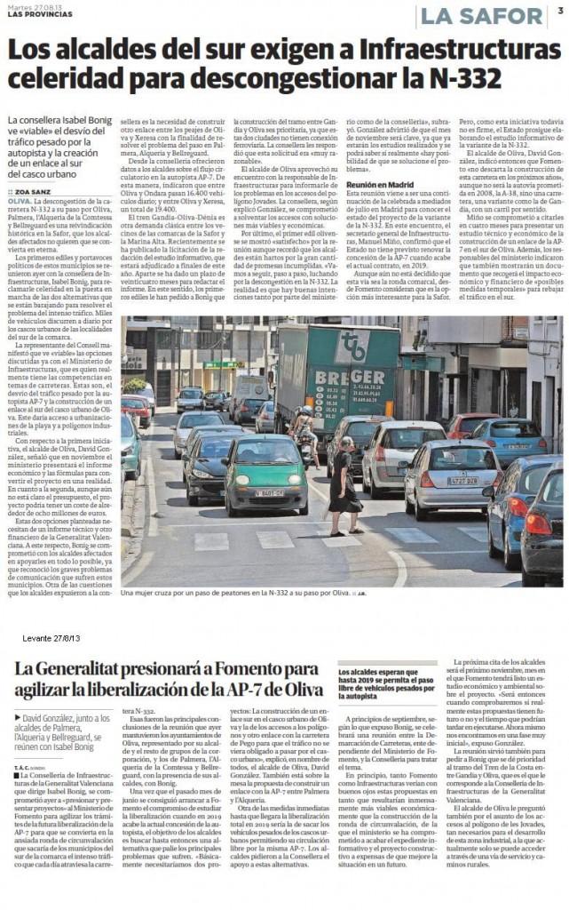 notícia carretera provincias i levante 27-8-13