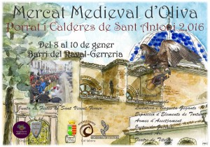Cartell-Porrat-de-Sant-Antoni-i-Mercat-Medieval-dOliva-2016